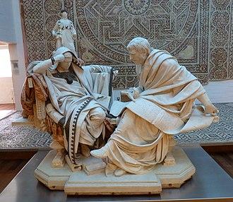 Seneca the Younger - Nero and Seneca, by Eduardo Barrón (1904). Museo del Prado