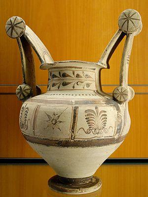 Messapian pottery - Trozzella, 4th century BC from Apulia
