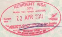 Visa policy of new zealand wikipedia new zealand entry stamp resident visa ccuart Images