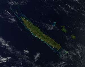 Grande Terre (New Caledonia) - A satellite photo of the island taken by Terra/MODIS (24 September 2012).