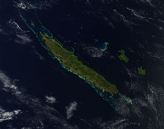 Grande Terre (New Caledonia) - A satellite photo of the island taken by Terra/MODIS (24 September 2012).