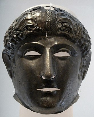 Newstead Helmet - Bronze visor-mask with no helmet from Newstead