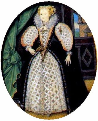 Penelope Blount, Countess of Devonshire - Portrait miniature thought to be Penelope Devereux, Lady Rich, c.1590 by Nicholas Hilliard