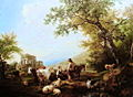 Nicolas de Fassin, Landscape with animals and children.jpg