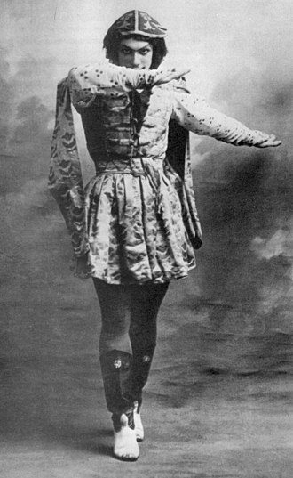 Vaslav Nijinsky - Nijinsky in Le Festin, a suite of classic dances performed on the opening night of the Ballets Russes in Paris, May 1909. The company's courier later described the audience's reaction to Nijinsky's performance with Tamara Karsavina in the Bluebird (ballet) pas de deux: when those two came on, good Lord! I have never seen such a public. You would have thought their seats were on fire.