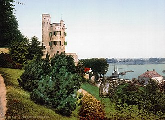 Nijmegen - Historical watchtower Belvedère in 1900. Today it is a restaurant.
