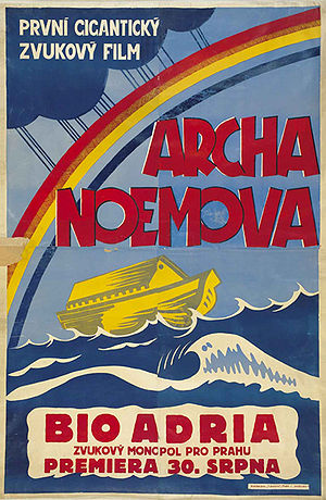 Czech movie poster to American movie Noah's Ar...