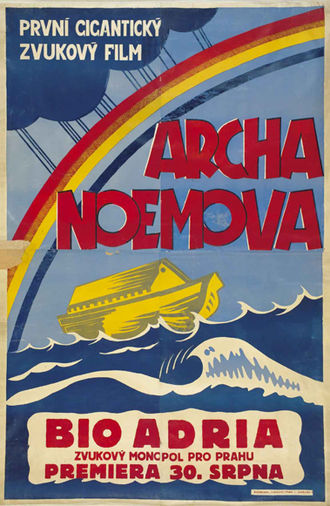 Noah's Ark (1928 film) - Czech movie poster for the 1930 release in Prague of the sound version