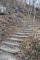 Nordic Walking auf der Treppe zum Martinsberg-Chaenzeli in Baden AG (Schweiz).jpg