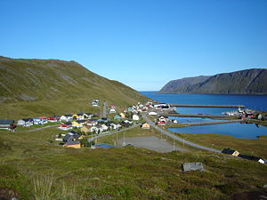Village of Skarsvåg, municipality of Nordkapp,...