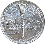 Norfolk bicentennial half dollar commemorative reverse