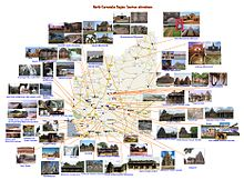 Karnataka Tourism Map With Distance Tourism in Karnataka   Wikipedia Karnataka Tourism Map With Distance