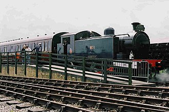 North Tyneside Steam Railway - No. 1 Ted Garret at Middle Engine Lane in 2000