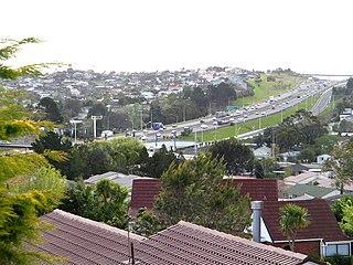 Auckland Northern Motorway road in New Zealand