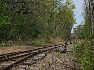 Erie Railroad - Railway switch in Nutley, New Jersey