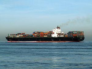 Nyk Lyra p3, leaving Port of Rotterdam, Holland 24-Jan-2006.jpg