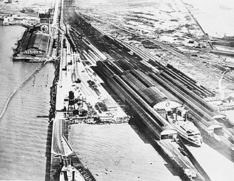 Oakland Long Wharf - Oakland Mole sometime after 1919