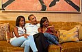 Obamas watch Michelle Obama speech.jpg