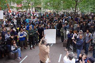Protesters in Zuccotti Paek