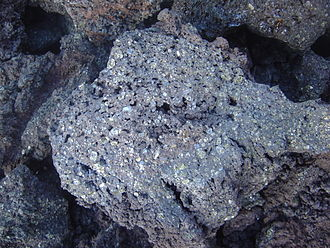 Picrite basalt - Picrite basalt or oceanite from the Piton de la Fournaise