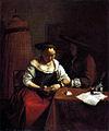 Ochtervelt, Jacob Lucasz. - Der Liebesantrag an die Lesende - c. 1670.jpg