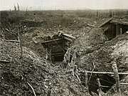 Official Photographs taken on the Front in France - A German front line trench before Gommecourt (15560801016)