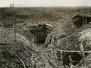 Attack on the Gommecourt Salient - Image: Official Photographs taken on the Front in France A German front line trench before Gommecourt (15560801016)