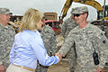 Oklahoma Gov. Mary Fallin, left foreground, visits with area residents and Oklahoma National Guardsmen in tornado-damaged Moore, Okla., May 28, 2013 130528-Z-TK779-018.jpg