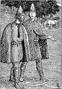 Hårek av Tjøtta tegnet av Halfdan Egedius
