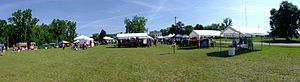 Knoxville, Georgia - Panorama of the Old Knoxville Days festival