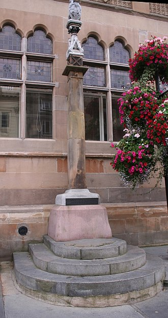 Charter Stones - The Old Inverness Market cross and Clach na Cudainn Charter Stone