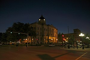 Bloomington, Illinois - McLean County History Museum (formerly McLean County Court House) in Downtown Bloomington
