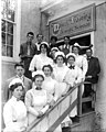Olympia High School students posing outside the Education Building, Alaska Yukon Pacific Exposition, Seattle, 1909 (AYP 303).jpeg