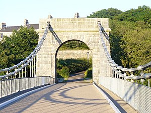 Wellington Suspension Bridge - The Wellington Suspension Bridge, pictured in 2009 after restoration