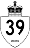 Highway 39 shield