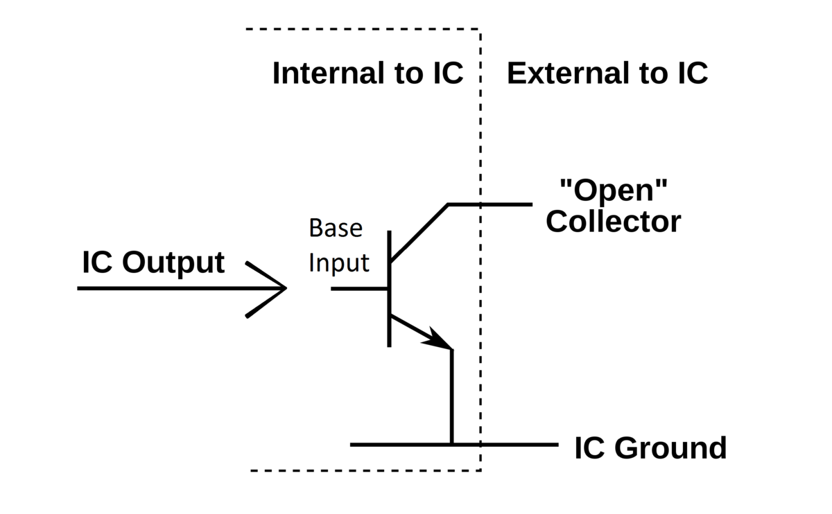 Open Collector Wikipedia Circuit Diagrams The Following Diagram Represents Boolean