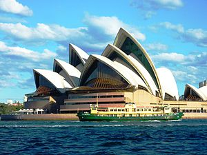 Sydney Opera House - Sydney Opera House with a Sydney Ferry passing by