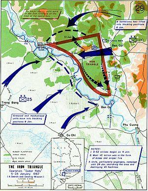 Operation Cedar Falls map