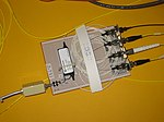 Optical switch - DARPA Quantum Network, in the BBN laboratory - IMG 2681.jpg