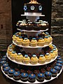 Orange, Blue, Brown, and White Wedding Cupcake Tower - Montreal - August 1, 2009 (3786912703).jpg