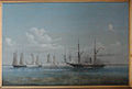 Orlogsskibet Hekla i kamp med tyske kanonbåde 16 august 1850.jpg