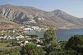 Ormos Aigiali, view from path to Tholaria, Amorgos, 080422.jpg