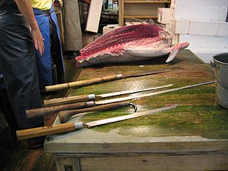 <i>Maguro bōchō</i> Traditional Japanese long knife for large fish