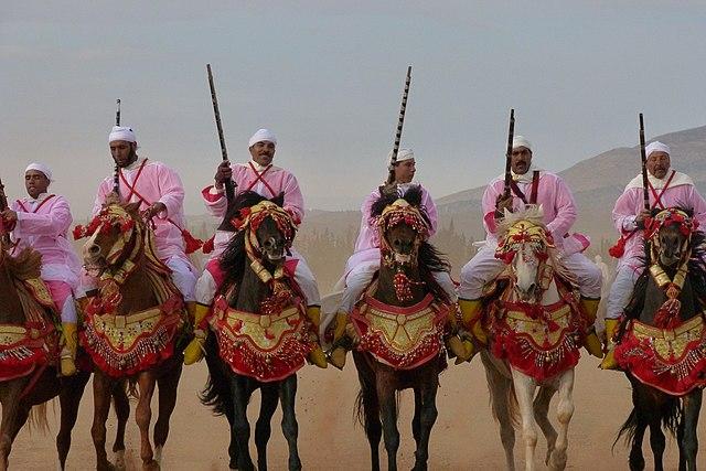 Fantasia berbère à Oujda au Maroc
