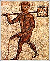 Pétra. Esclave noir nu apportant des braises aux thermes.jpg