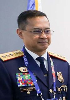 Archie Gamboa Director General of the Philippine National Police