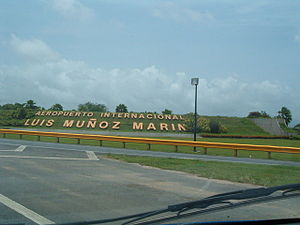 1998 Puerto Rican general strike - The entrance to the Luis Muñoz Marín International Airport