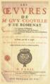 Page de titre, Œuvres de Me Guy Coquille, sieur de Romenay, avec privilège du roi, 1646.png