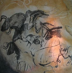 Paintings from the Chauvet cave (museum replica).jpg