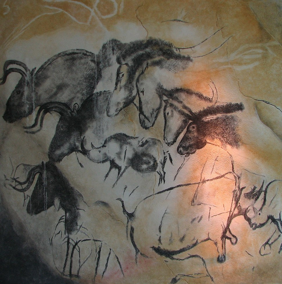 Paintings from the Chauvet cave (museum replica)
